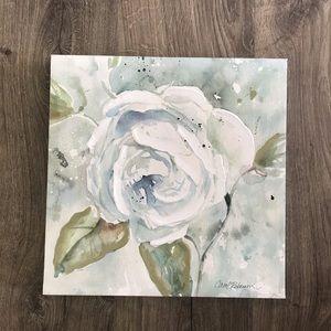 "Carol Robinson painted canvas art square blue 12"""